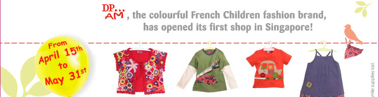 DPAM, the colourful French Children fashion brand, has opened its first shop in Singapore!