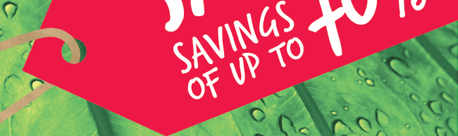 Up to 70% savings